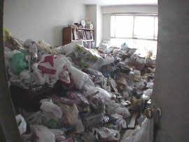 Hoarding bedroom before